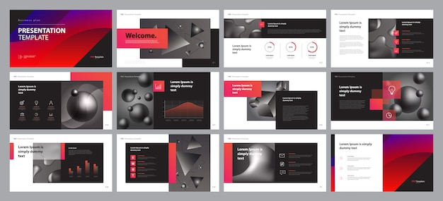 Projektowanie prezentacji biznesowych i układ broszur