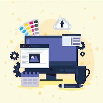 Projektowanie stron internetowych w ikonach pulpitu