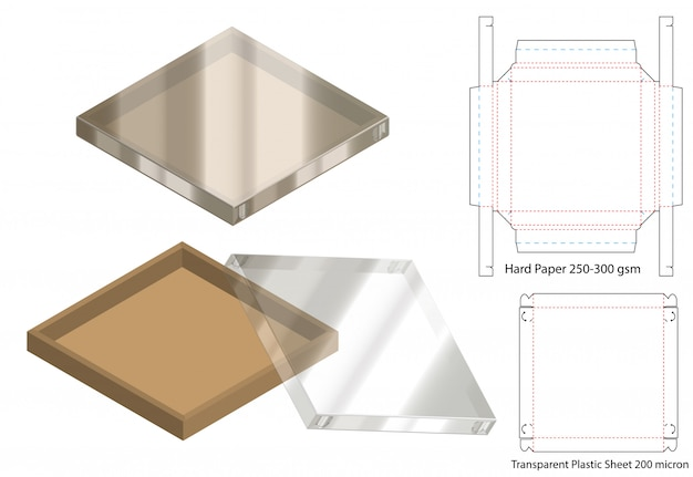 Projektowanie szablonów wycinanych w pudełku.