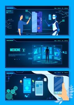 Projektowanie ux ui przyszłego zestawu ilustracji wektorowych technologii.