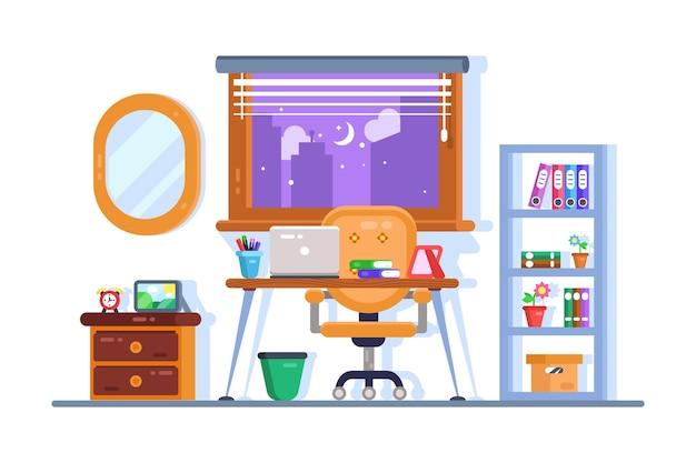 Projektowanie wnętrz miejsca pracy domu lub biura