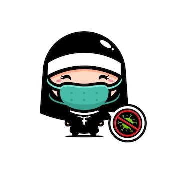 Projektowanie zakonnic noszących maski