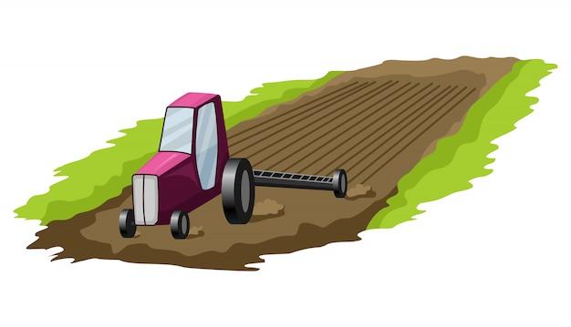 Projektowanie zasobów naturalnych. wektorowa ilustracja krajowa skarb ziemia. ilustracja uprawy ziemi uprawnej