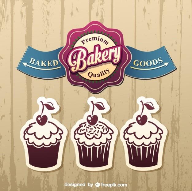 Projekty etykiet ciasto