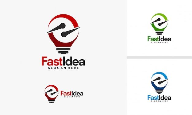 Projekty logo fast idea
