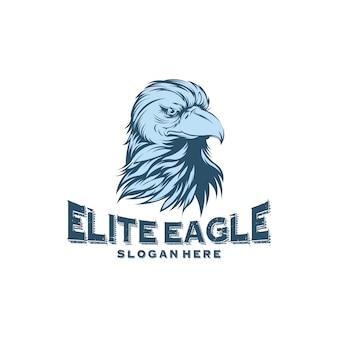 Projekty logo head eagle