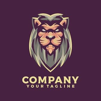 Projekty logo maskotki lwa