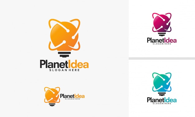 Projekty logo planet idea