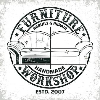 Projekty logo warsztatów mebli vintage