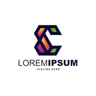Projekty logo z literami e.