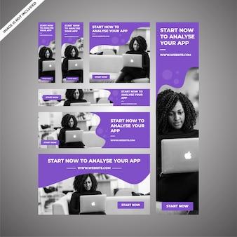 Projekty reklam marketingowych aplikacji do marketingu cyfrowego
