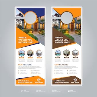 Projekty szablonów wieszaków na drzwi nieruchomości