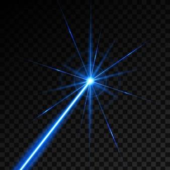 Promień lasera wiązki światła połysku.