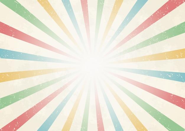 Promień słońca z centrum rocznika kolor tła