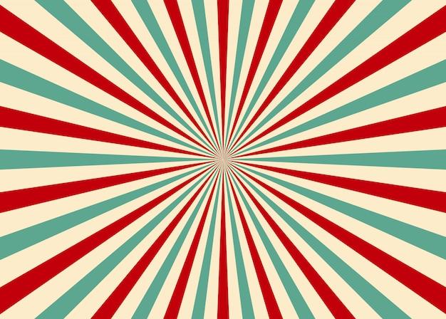 Promień światła słonecznego sunburst retro tło. starburst. styl cyrkowy