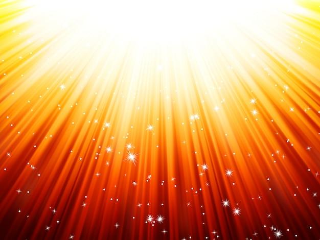 Promienie słoneczne rozbłyskują światłem słonecznym.