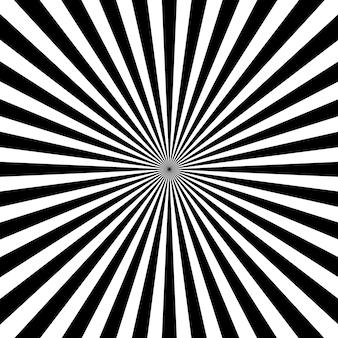 Promienie słoneczne z białym i czarnym kolorem tła