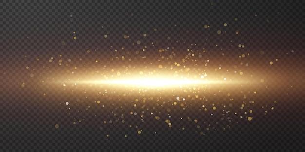 Promienie światła. jasny pasek światła.