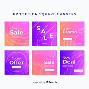 Promocja bannera kwadratowego