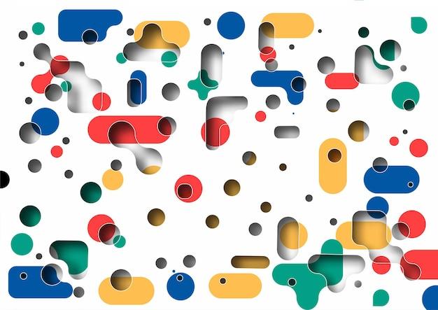 Promocja bezszwowe abstrakcyjny wzór dynamiczne kształty geometryczne koło. wzór na projekt okładki, plakat, baner, karta, powitanie, biznes, dekoracja.