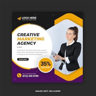 Promocja biznesu i projektowanie szablonów postów w mediach społecznościowych