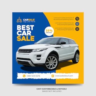Promocja myjni samochodowej media społecznościowe facebook instagram post szablon projektu banera wypożyczalnia samochodów s