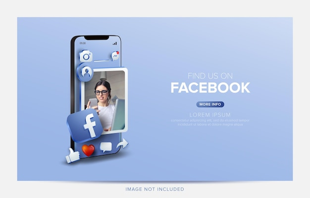 Promocja na facebooku w mediach społecznościowych w aplikacji mobilnej
