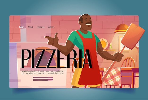 Promocja otwarcia restauracji z kreskówkową pizzerią