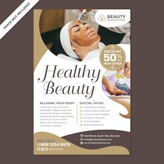 Promocja plakatu beauty spa w stylu płaskiej konstrukcji