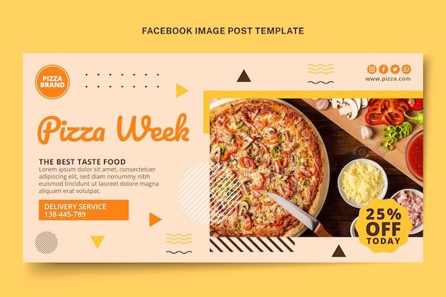 Promocja płaskiego jedzenia na facebooku