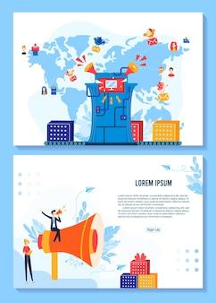 Promocja, projektowanie banerów super sprzedaży dla ilustracji marketingowych sklepu.