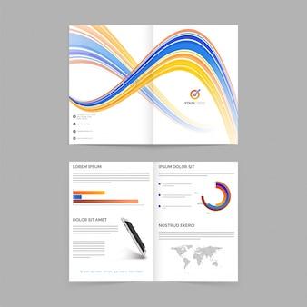 Promocja raport roczny szablon magazynu abstrakcyjnego