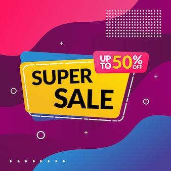 Promocja sprzedaży super banner