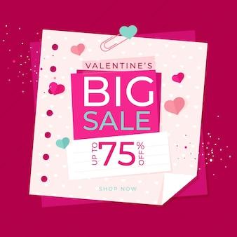 Promocja Sprzedaży Walentynkowej Darmowych Wektorów