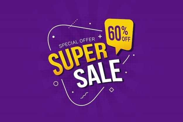 Promocja szablonu banera promocyjnego super sprzedaży