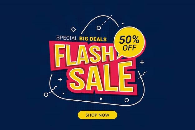 Promocja szablonu banera ze zniżką na sprzedaż flash