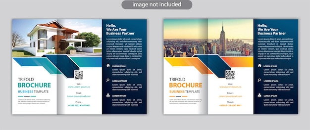 Promocja szablonu broszury trójdzielnej