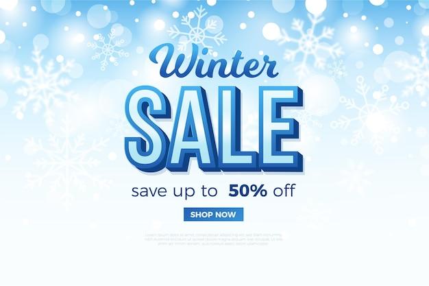 Promocja zimowej wyprzedaży ze specjalną zniżką