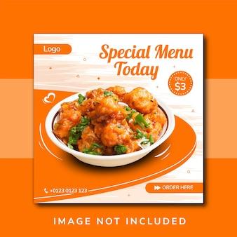 Promocja żywności w mediach społecznościowych i projektowanie banerów na instagramie