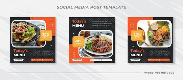 Promocja żywności w mediach społecznościowych i projektowanie postów banerów na instagramie