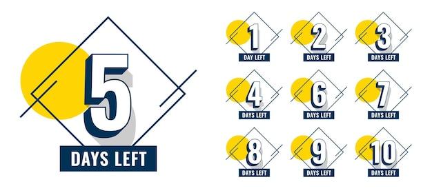 Promocyjna liczba dni, które pozostały do projektu banera