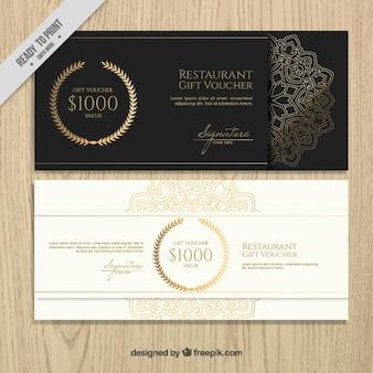 Promocyjne kupony z eleganckiej restauracji