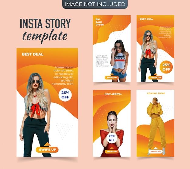 Promocyjny sztandar mody dla instagram stories