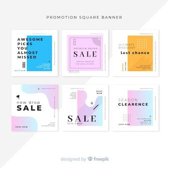 Promuj kwadratowe kolekcje bannerów