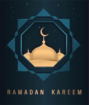 Prosta dekoracja ramadan kareem