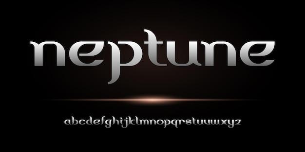 Prosta elegancka czcionka alfabetu. czcionki typograficzne zwykłe