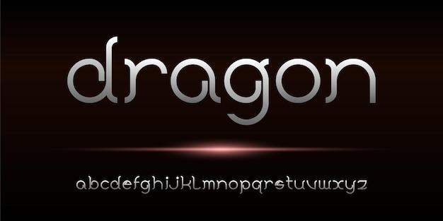 Prosta elegancka nowoczesna czcionka alfabetu. czcionka w stylu miejskim typografii