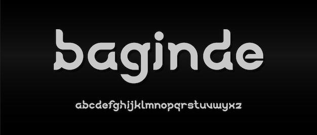Prosta elegancka nowoczesna czcionka alfabetu.