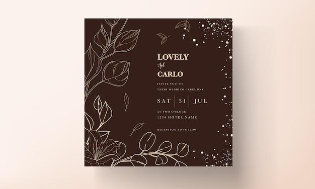 Prosta i elegancka karta zaproszenie na ślub kwiatowy