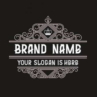 Prosta i elegancka rama szablon vintage logo vintage